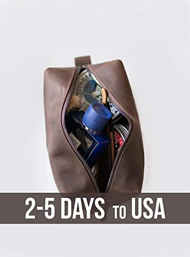 Amazon.com  Leather Toiletry Bag For Men or Women Christmas Gift Dopp Kit  for Travel Leather Men Mens Leather Dopp Kit  Handmade e935f4cc4658f