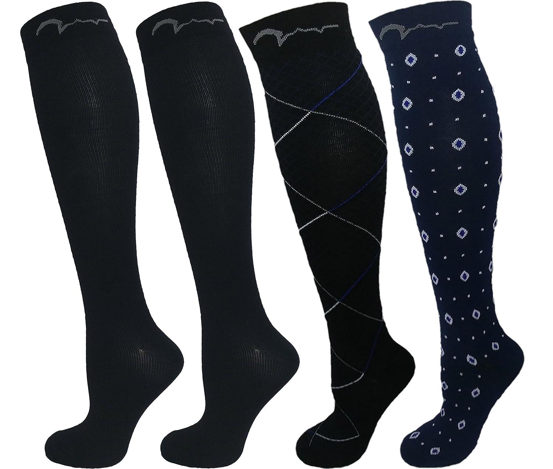7713bd0b2e7 Amazon.com  Mens and Womens 4 Pair Extra Soft Compression Socks