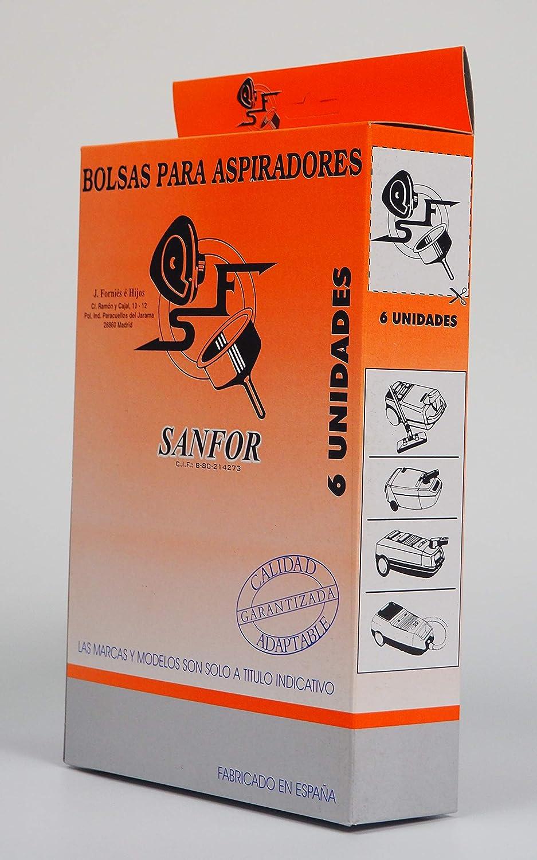 Sanfor 64080 Caja Bolsa aspirador SOLAC R-SO917-919 6 ...