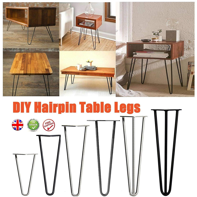 Patas de mesa de horquilla para muebles, 4 unidades, resistentes ...