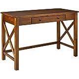 """Amazon Brand – Ravenna Home Classic Two-Drawer Desk, 44""""W, Walnut"""