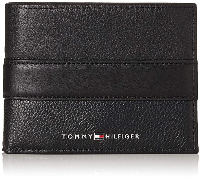 Tommy Hilfiger Cartera Down Flap Coin Negro Hombre