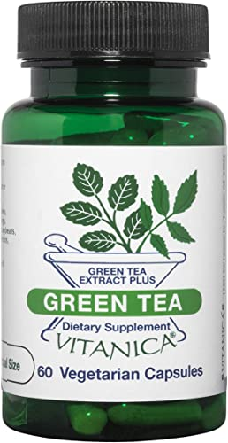 Vitanica, Green Tea, Green Tea Extract Plus, Vegan, 60 Capsules