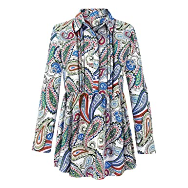 b1cdac4f548 Collections Women's Paisley Printed Pintuck Tunic Top at Amazon ...