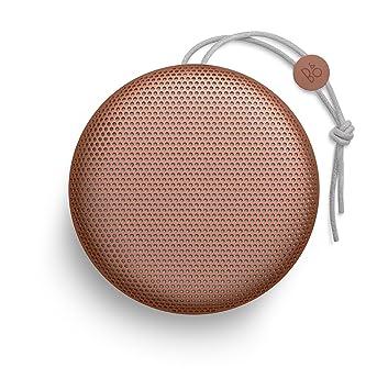 Beoplay A1 de Bang & Olufsen - Altavoz Bluetooth portátil con micrófono, tangerine red