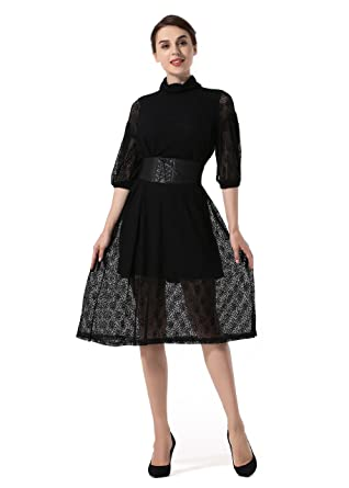 Lantern Sleeve Evening Dress Large Size Slim Autumn Winter Lace