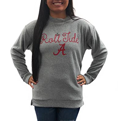 University of Alabama Crimson Tide Womens Apparel Comfy Terry Sweatshirt  Clothing Heather Grey at Amazon Women s Clothing store  8d12569d3c0e