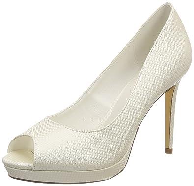 Menbur Angelis, Chaussures Compensées Femme, Ecru (Ivory 04), 40 EU