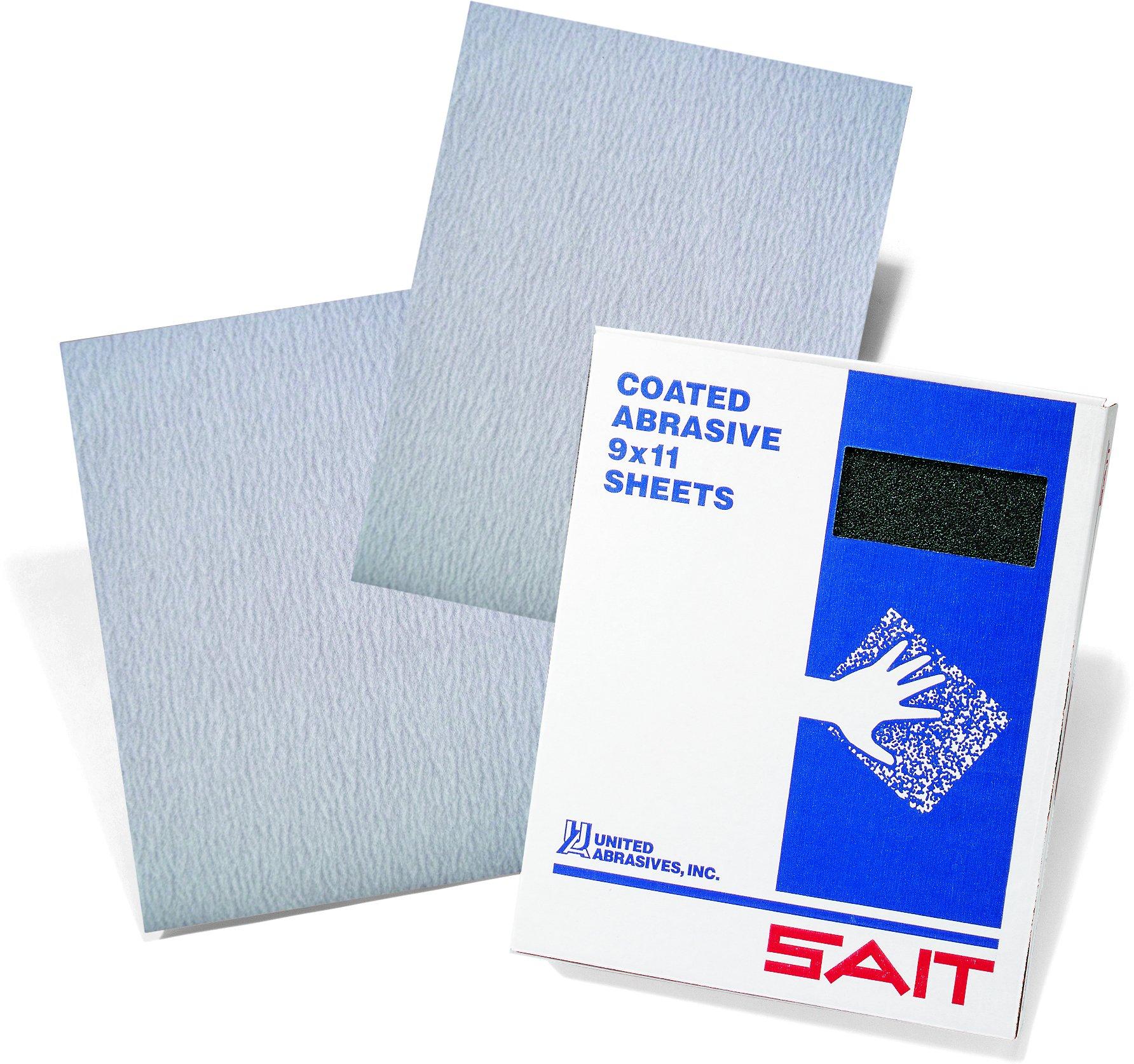 United Abrasives-SAIT 84163 Cloth Sheet, Stearate Aluminum Oxide, 9 x 11, 220 Grit, 50 Per Box
