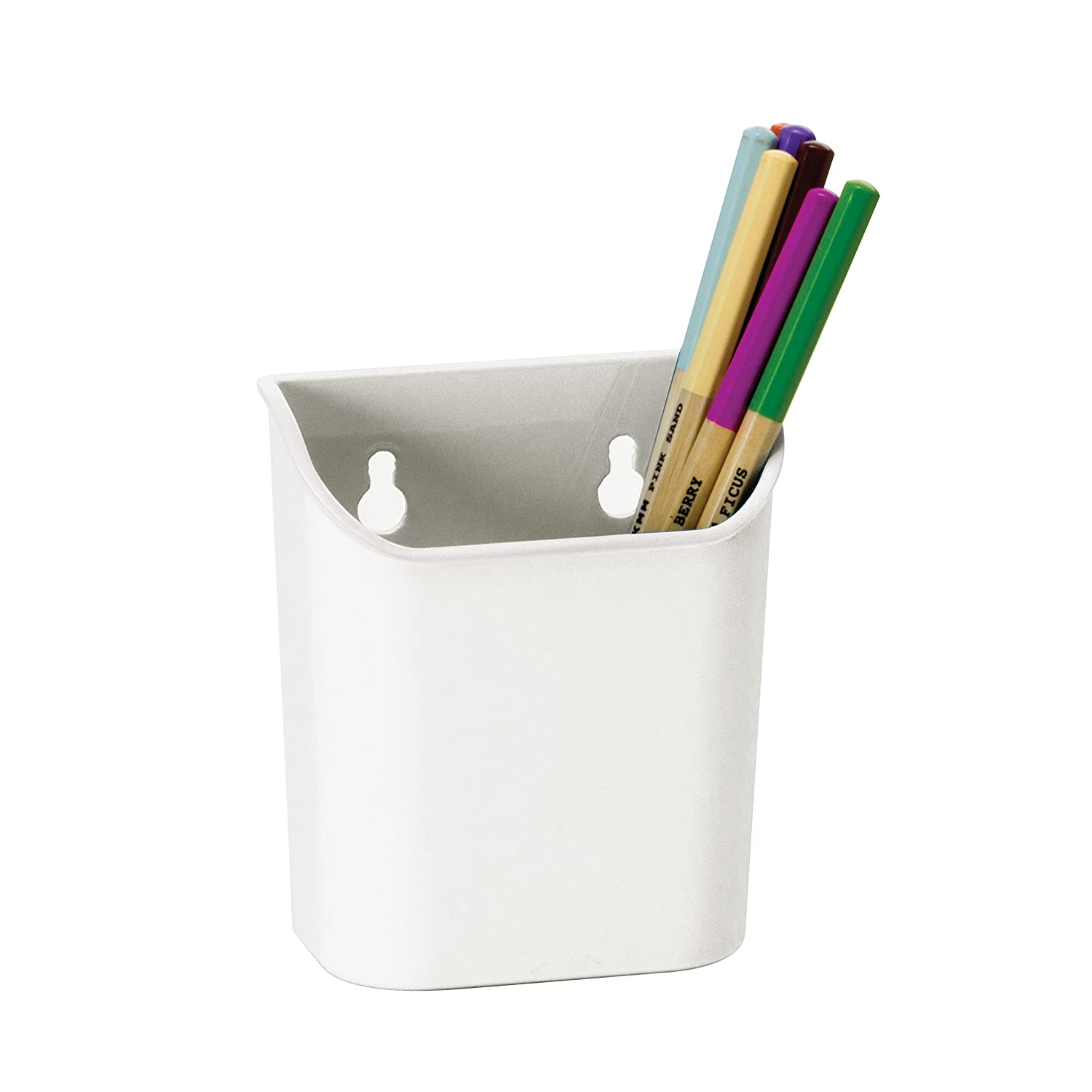 Officemate Magnet Plus Magnetic Pencil Cup, White (92540)