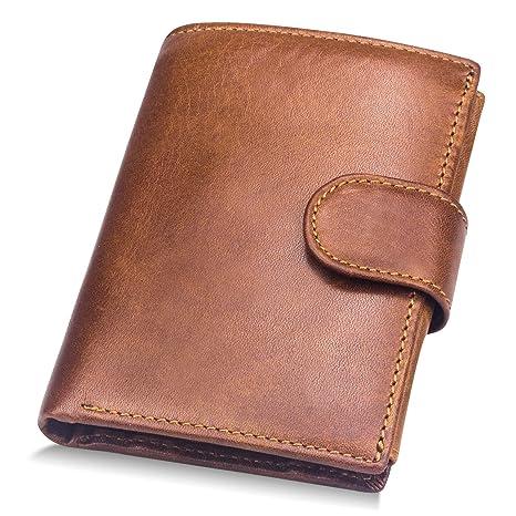 f68b3ebf18 BAGZY Portafoglio uomo in vera pelle morbida Borsa Borsellino Porta Carte  di Credito Pochette Portamonete Titolare