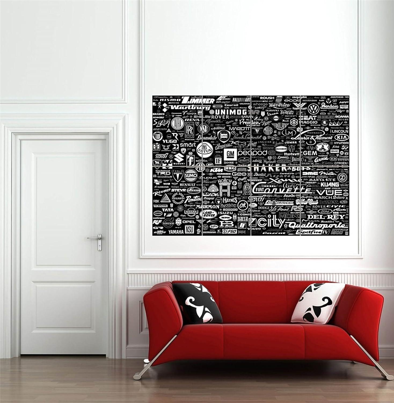 Amazon.com: Doppelganger33LTD WORLD CAR LOGO BADGES GARAGE SIGN GIANT ART PRINT NEW POSTER PICTURE B1052: Posters & Prints