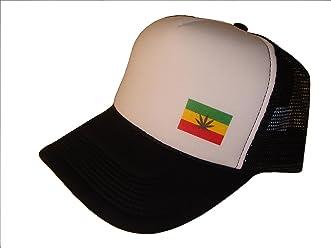 37497d753b8 Marijuana Weed Leaf Rasta Mesh Trucker Cap (One Size