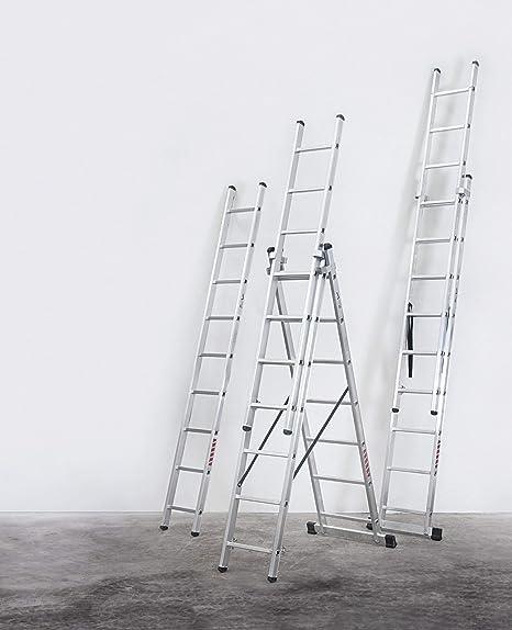 Escalera Industrial Combinada 2 Tramos 2x9 2.52 / 4.31 M - Profer Top - Pt1530: Amazon.es: Instrumentos musicales