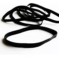 Crafted-Brand Heavy Duty Rubber Bands | Big Thick XL-Large-Lg UV Resistant Black Rubber-Bands for Fishing, RC, or Hair + Use What The Pros Use + 20 Pack Kit (# 64-Size, 6 mm Wide x 3 1/2 Inch Long)