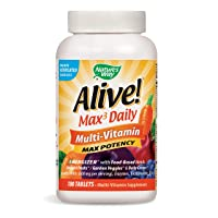 Nature's Way Alive! Max3 Daily Adult Multivitamin, Food-Based Blends (1, 060mgper...