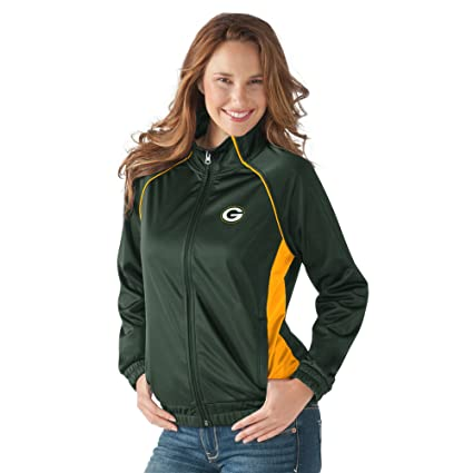 Amazon.com   G-III Sports Green Bay Packers Corner 3 Women s Track ... 641cfdb01