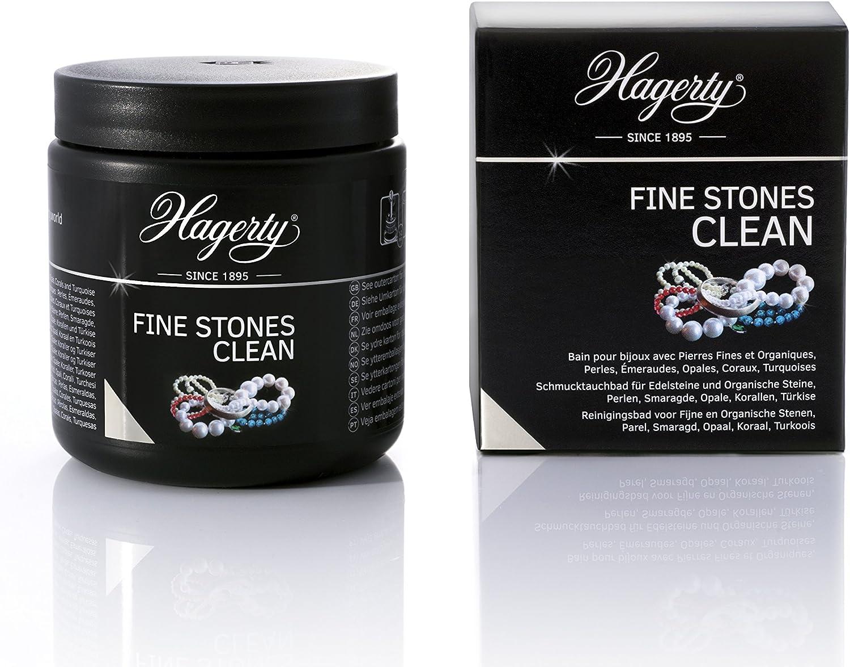 HAGERTY - Fines Stones Clean - Limpiador por inmersión de joyas con piedras naturales: perlas, esmeraldas, corales o turquesas - 1 unidad 170 ml