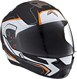 MAVOX FX22 D2P 570 Full Face Helmet (Black and Orange, 570 mm)
