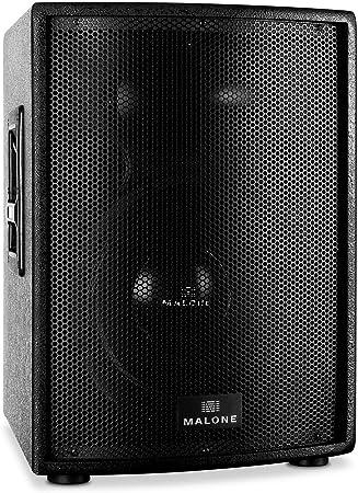 Malone Pw 15a T Aktive Pa Box Pa Aktiv Lautsprecher 1000 W Peak Leistung 38 Cm 15 Subwoofer Frequenzbereich 40 Hz 18 Khz 2 Band Equalizer 35 Mm Flanschöffnung Zum Stativ Aufbau Schwarz Audio Hifi