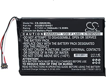 Replacement Battery for Garmin 010-01188-02 Nuvi 2689LMT KI22BI31DI4G1 2689LMT 2689LMT 6-inch Nuvi 2639LMT 6-inch Nuvi 2639LMT