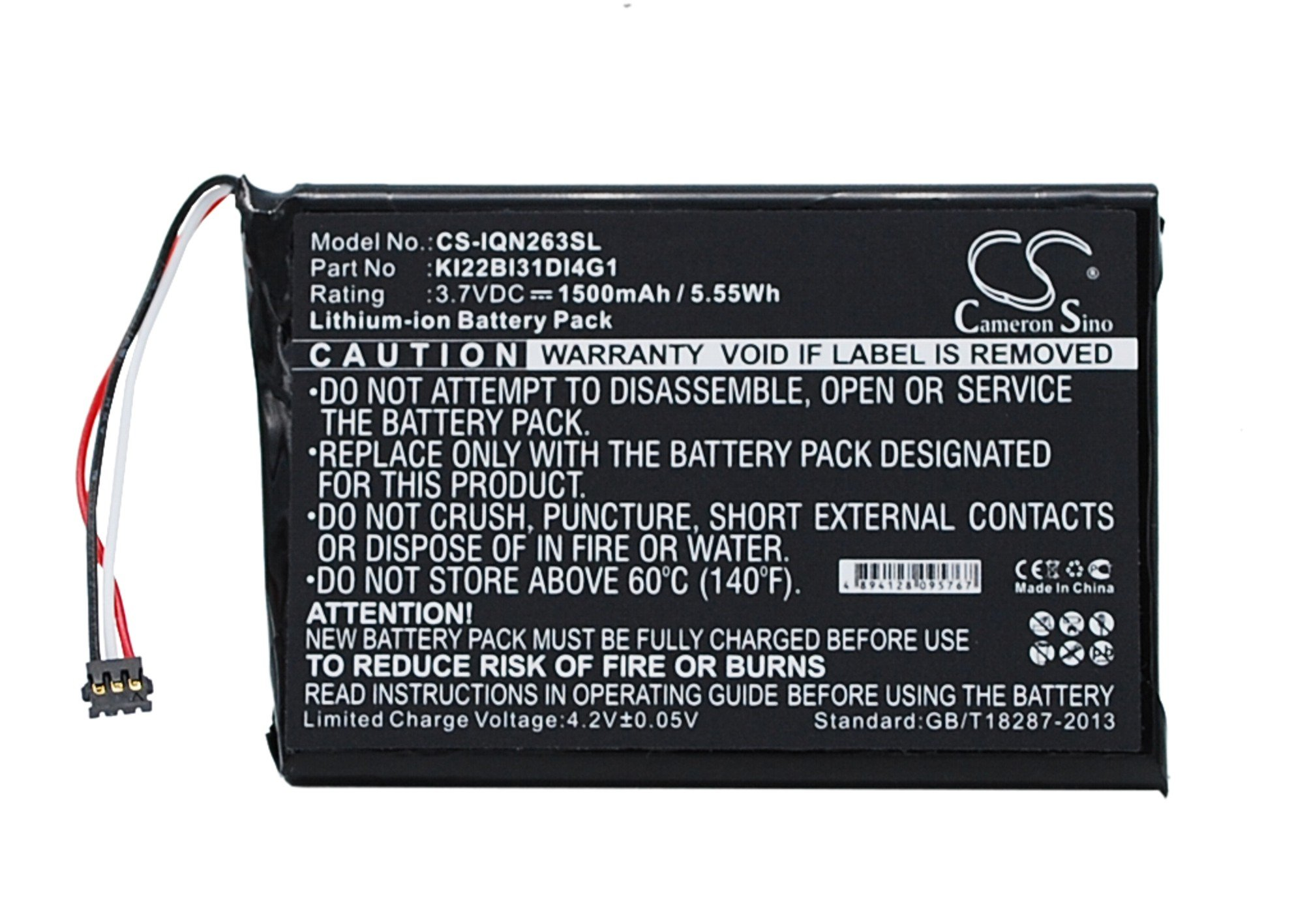 Replacement Battery for Garmin 010-01188-02 2689LMT 2689LMT 6-inch Nuvi 2639LMT Nuvi 2639LMT 6-inch Nuvi 2689LMT Part NO Garmin KI22BI31DI4G1
