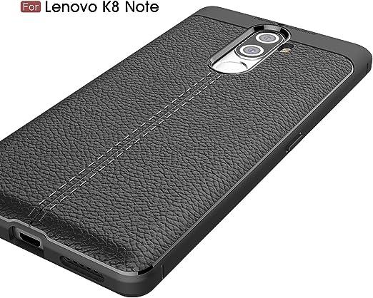 Lenovo K8 Note Funda, SMTR Cuero de la PU Cubierta Delgado ...