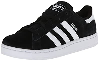 adidas Originals Campus 2 C Basketball Shoe (Little Kid), Black/White,