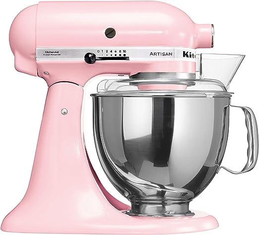 KitchenAid Artisan - Robot de cocina (4,8 L, Rosa, palanca, 220 RPM, 1,454 m, AC): Amazon.es: Hogar