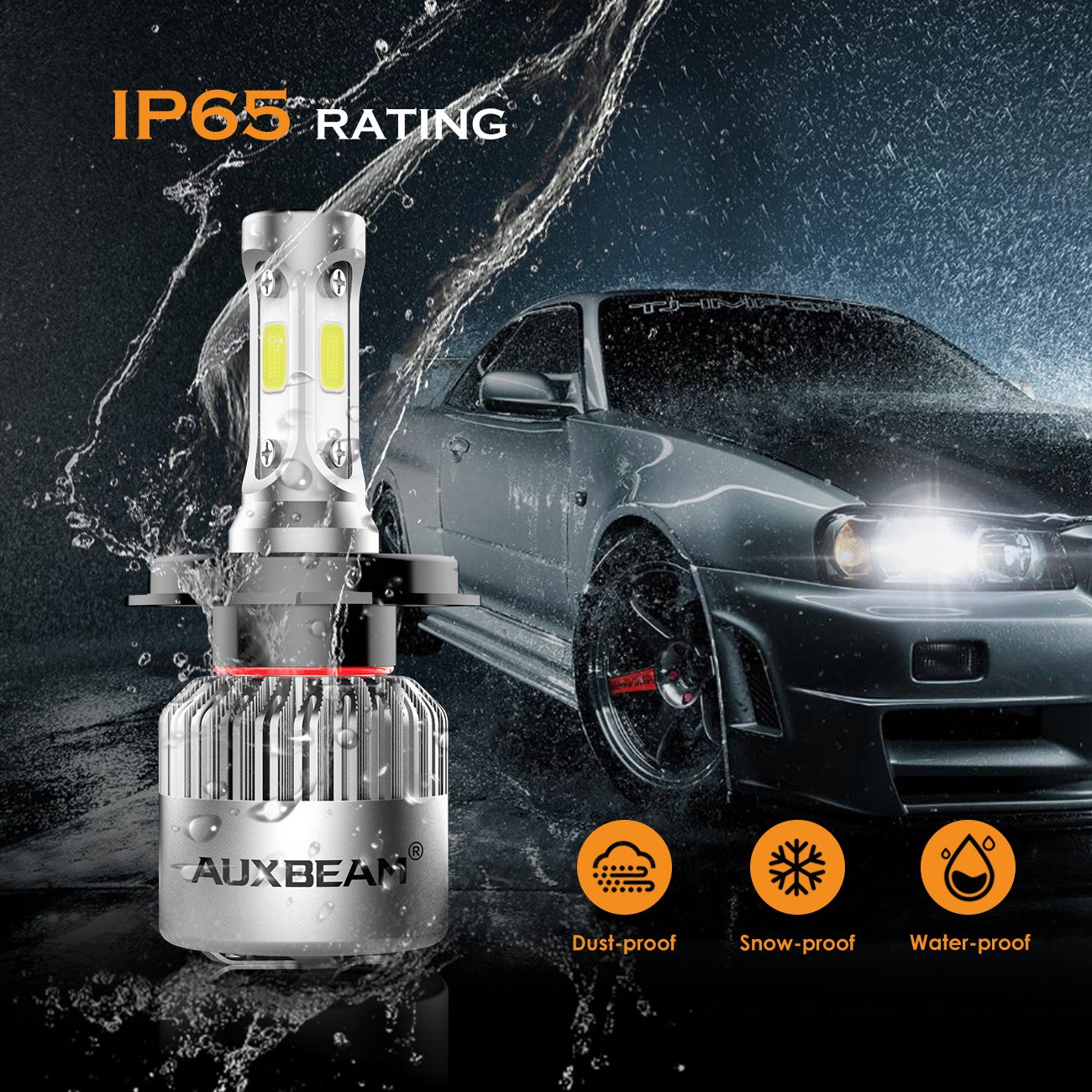 Auxbeam Led Headlight Bulbs F S2 Series Headlights With 2 Pcs Of Exciting Scout Crafts 1 Or Headlamp H4 Conversion Kits72w 8000lm Hi Lo Beam Car Motorbike