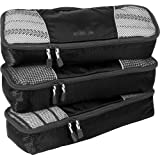 eBags Slim Packing Cubes - 3pc Set (Black)