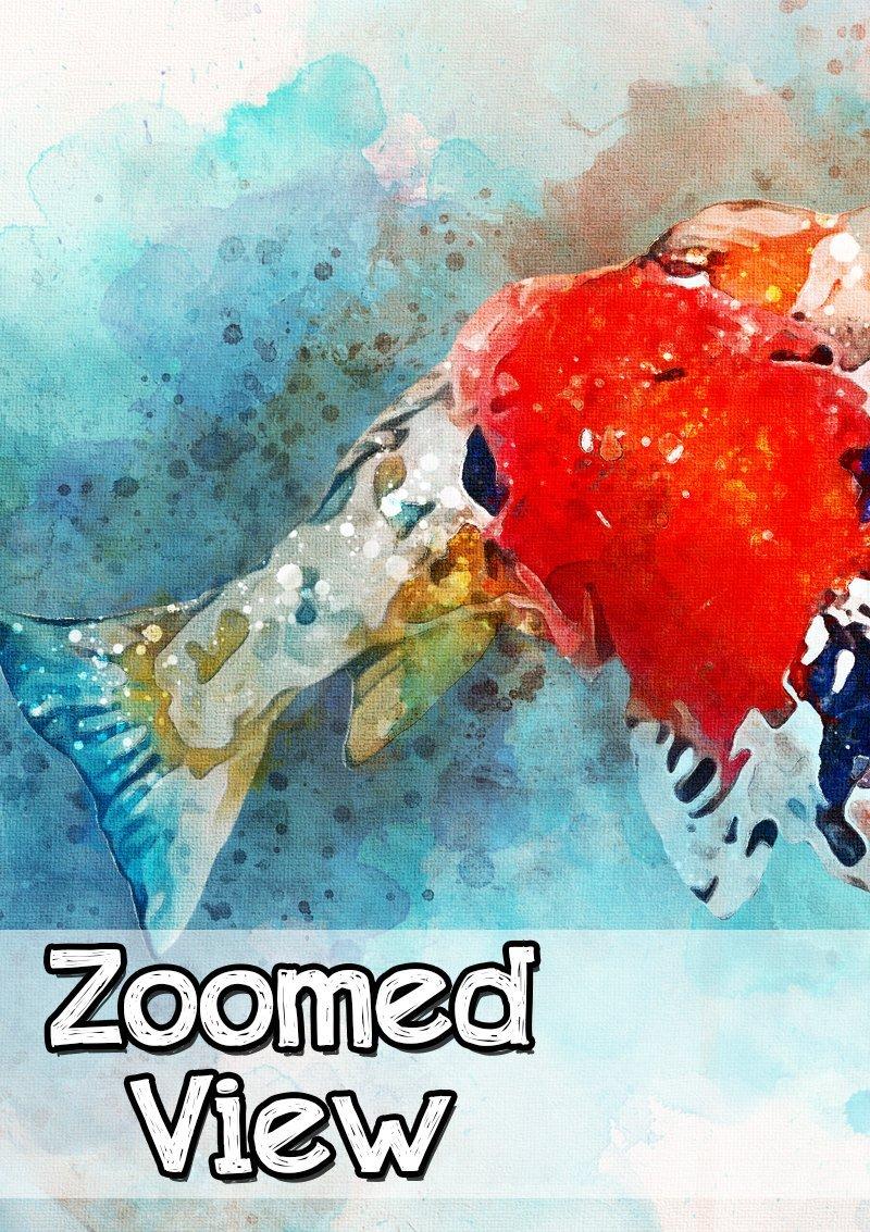Amazon.com: Koi Fish Painting Print - Japanese Carp Wall Art - Pond ...