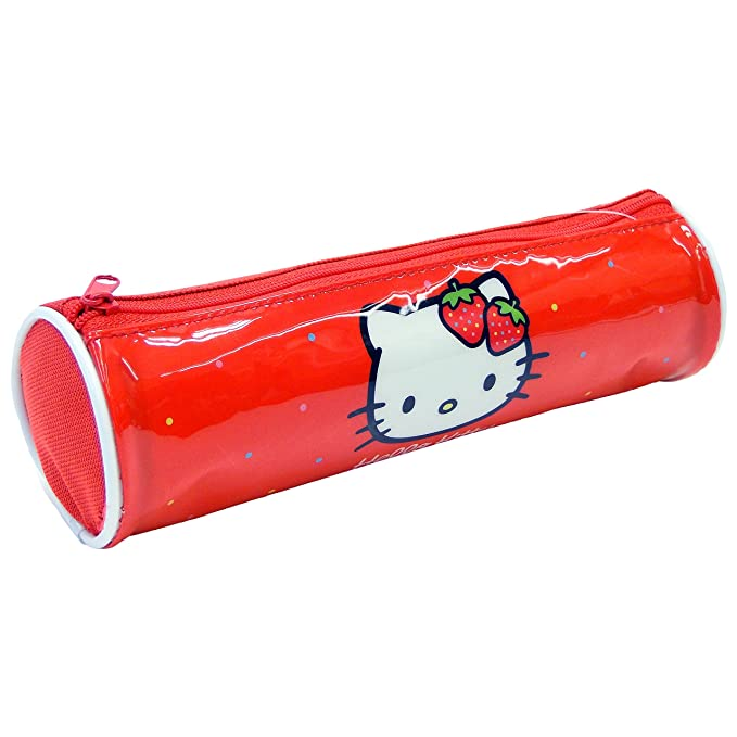 Hello Kitty Estuche Tela Cilindro Hello Kitty Estuches, 22 cm, Multicolor