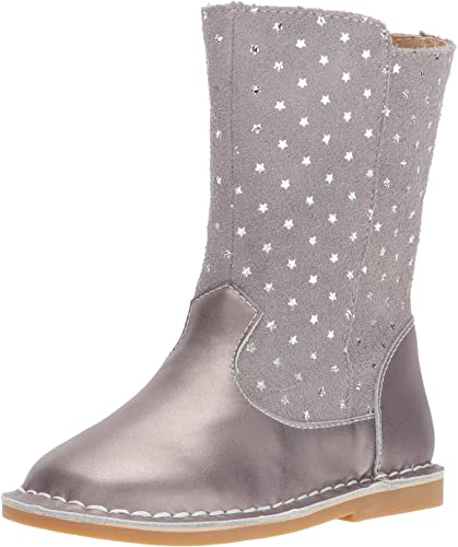 Livie And Luca Girls Gray Suede Boots Size 5 New Without Box