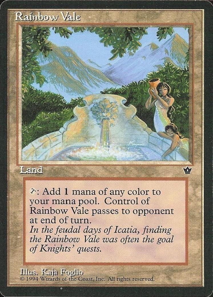 1x Rainbow Vale Fallen Empires Light Play English MTG