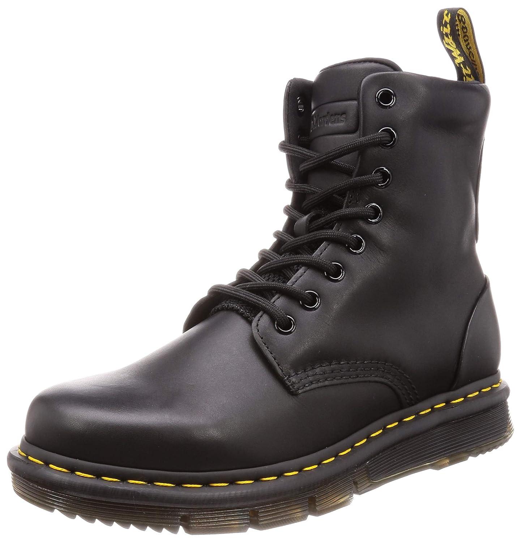 Black Sendal Black Knit 8 Dr.Martens Unisex Lexington Sendal Leather Boots