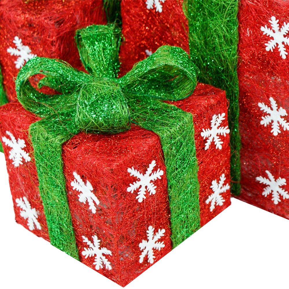 MomokoPeng Hand-made Sparking LED Christmas Gift Boxes Decoration ...