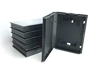 GGG0049 6 pack of clamshell cases for Sega Genesis Game Cartridges Protectors from Dust; Storage, (OEM games only will not hold third party games) (empty cover)