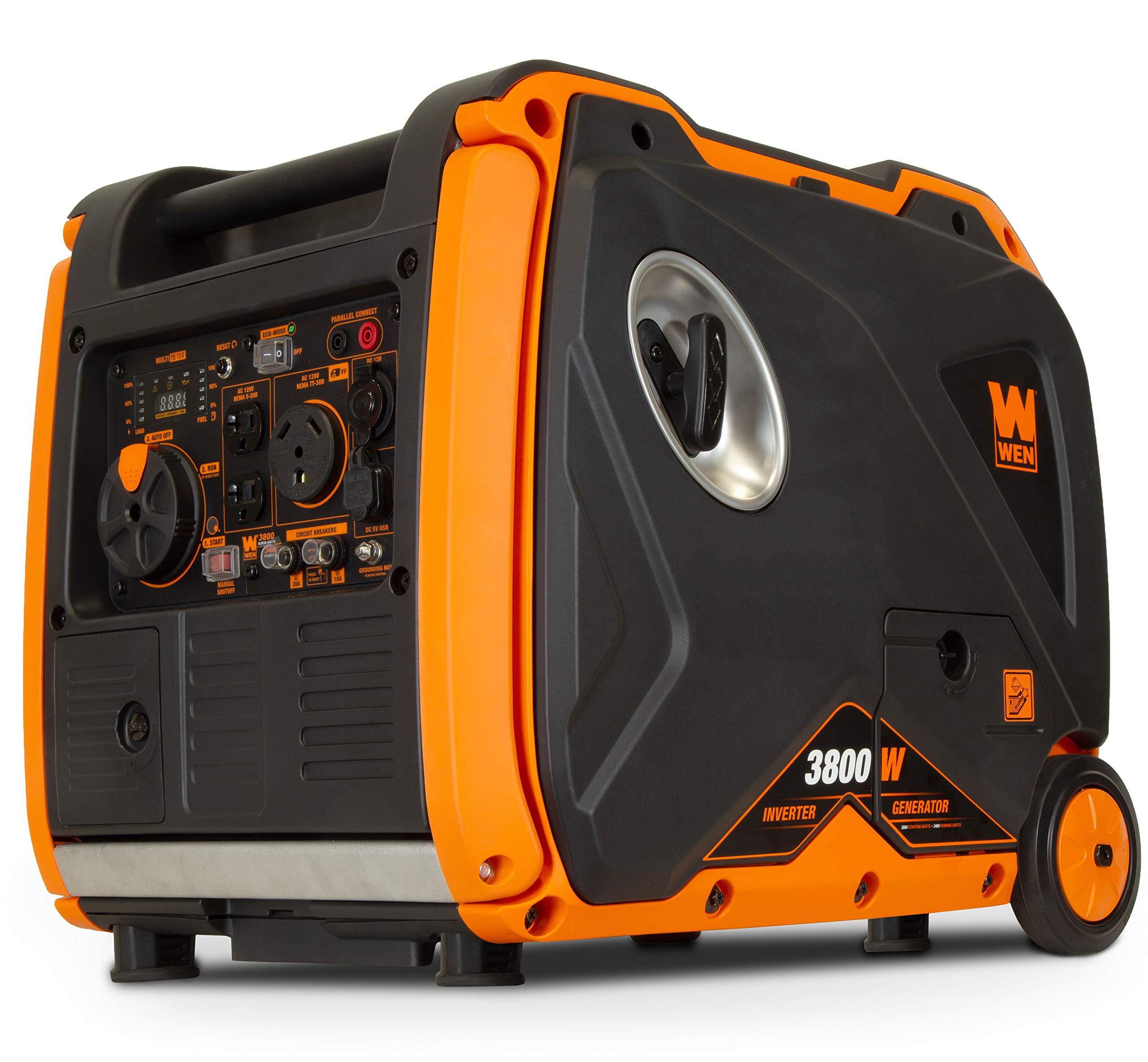 WEN 56380i Super Quiet 3800-Watt Portable Inverter Generator with Fuel Shut-Off and Electric Start by WEN