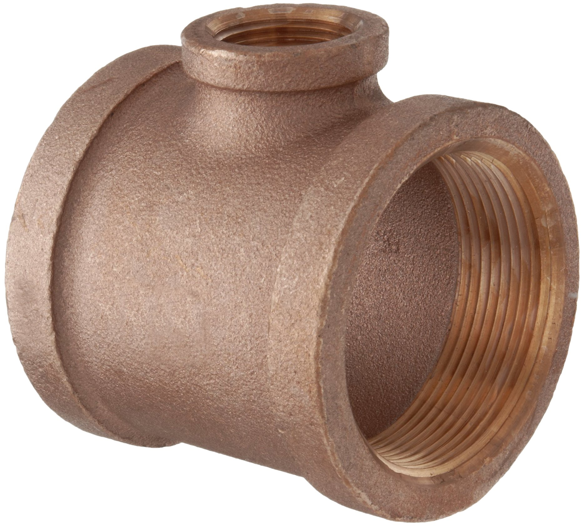 Lead Free Brass Pipe Fitting, Reducing Tee, Class 125, 1'' x 1'' x 1/2'' NPT Female