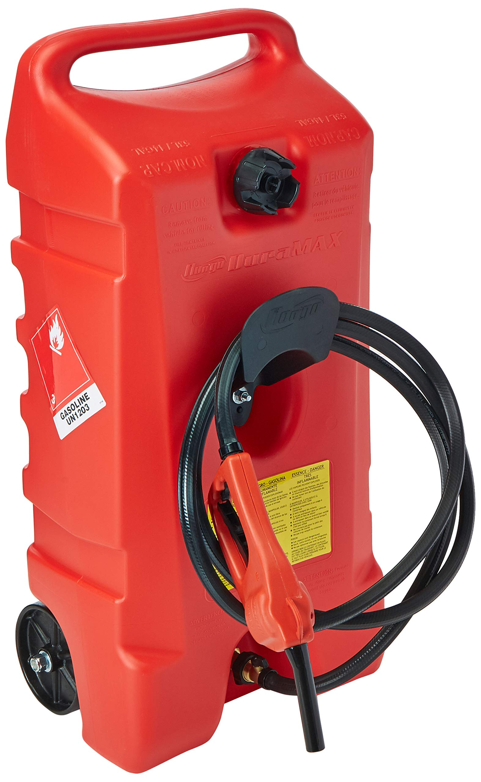 DuraMax Flo n' Go LE Fluid Transfer Pump and 14-Gallon Rolling Gas Can by Scepter USA