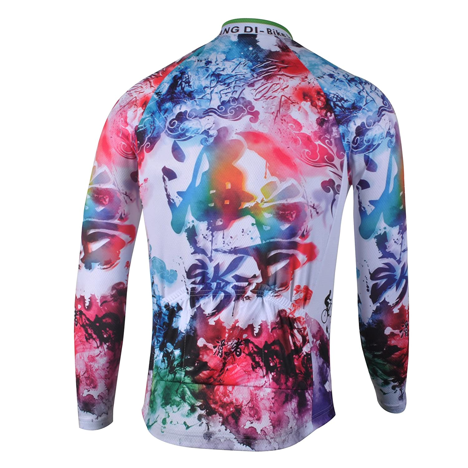 fd7b93013 Amazon.com  zm Men s Spring Cycling Jersey Long Sleeve Road Autumn Bike  Jersey Jacket  Clothing