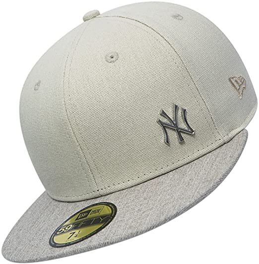 24f1b836 NEW ERA 59FIFTY FITTED CAP. FLAWLESS METAL NEW YORK YANKEES. BEIGE ...