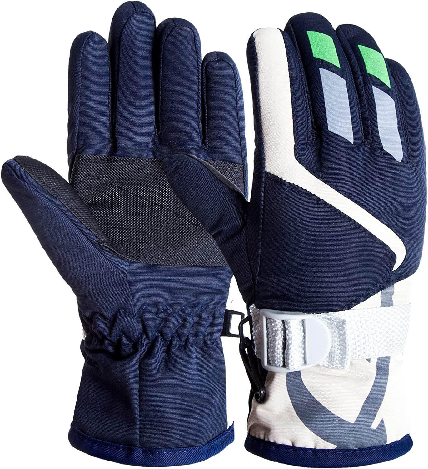 Kids Ski Gloves Winter Warm Lining Snow Cold Weather Windproof Waterproof Adjustable Gloves for Boys & Girls 2-5Years : Sports & Outdoors
