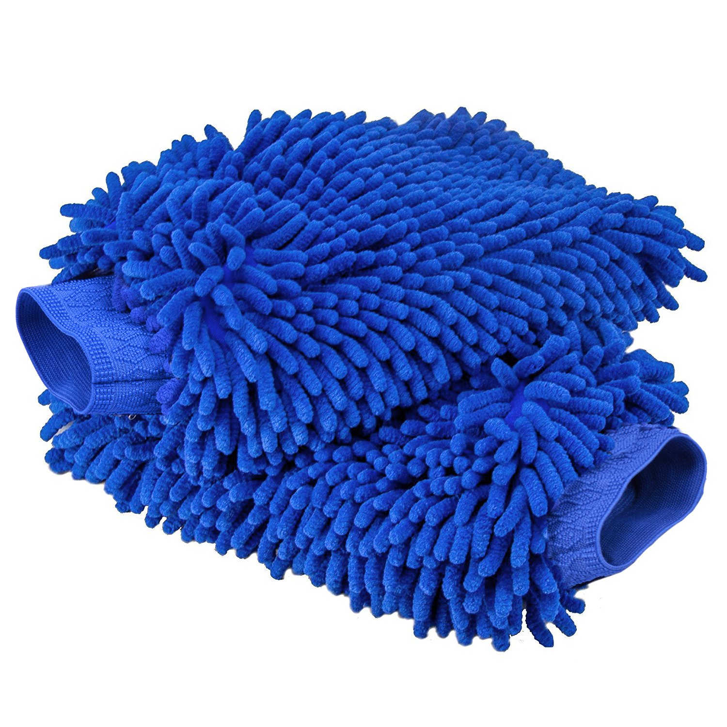 TOPLUS Ultimate Car Wash Mitt - 2 PACK Extra Large Size 10.4oz Heavy and Thick - 100% Waterproof Lining Anti-scratch Premium Chenille Microfiber Wash Sponge for Car SUV Truck Toplus-01