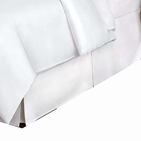 Belles & Whistles 400 TC Bed Skirt, King, White