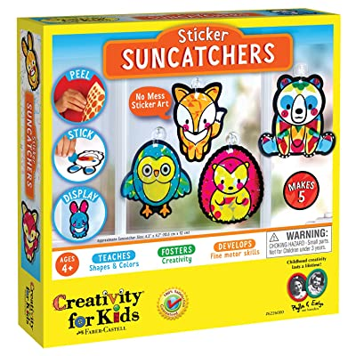 Creativity for Kids Sticker Suncatchers - Make Your Own Animal Sun Catcher Kit for Kids: Toys & Games