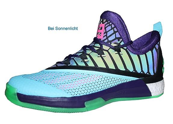 size 40 859a1 b740f adidas Crazylight Boost 2.5 Low PurpleBlack Gr. 48 Amazon.de Schuhe   Handtaschen