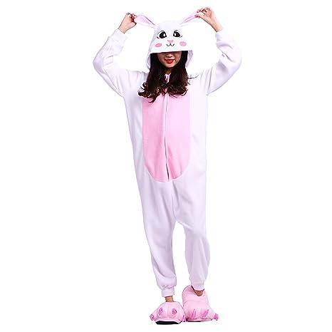 PALMFOX Pijama Animal Onesie Entero para Adultos Pijama Mono Animal para Mujer Hombre Disfraz para Navidad