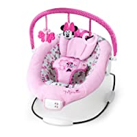 Disney Baby 60578 - Balancín de Minnie Mouse con barra de juguetes